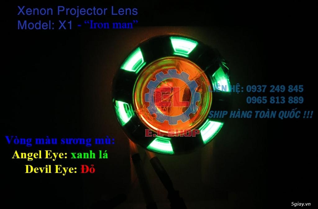 E.L SHOP Đèn led siêu sáng xe mô tô: XHP50, XHP70 i7, Cree, Philips Lumiled,Gương cầu LED xe gắn máy - 25