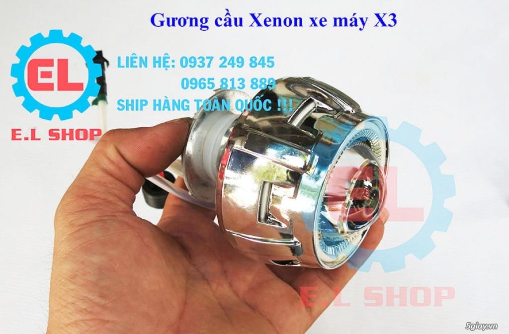E.L SHOP Đèn led siêu sáng xe mô tô: XHP50, XHP70 i7, Cree, Philips Lumiled,Gương cầu LED xe gắn máy - 28