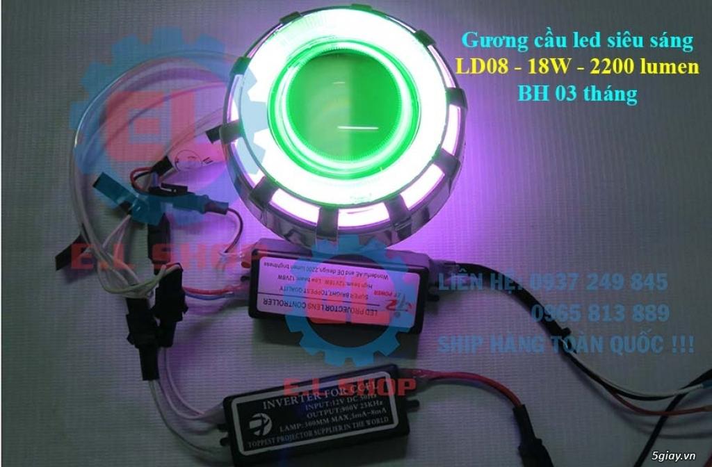 E.L SHOP Đèn led siêu sáng xe mô tô: XHP50, XHP70 i7, Cree, Philips Lumiled,Gương cầu LED xe gắn máy - 36