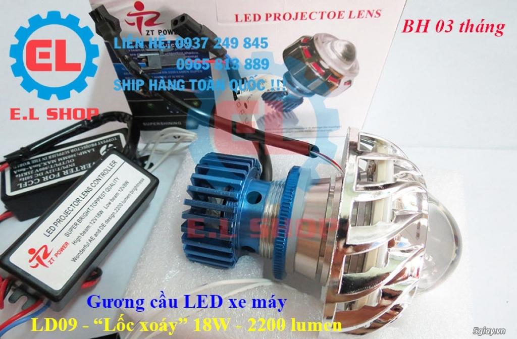 E.L SHOP Đèn led siêu sáng xe mô tô: XHP50, XHP70 i7, Cree, Philips Lumiled,Gương cầu LED xe gắn máy - 37