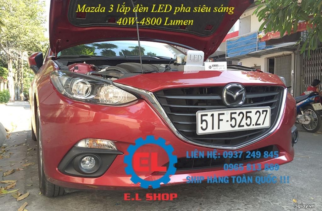 E.L SHOP - Đèn Led siêu sáng xe ô tô: XHP70, XHP50, Philips Lumiled, gương cầu xenon... - 42