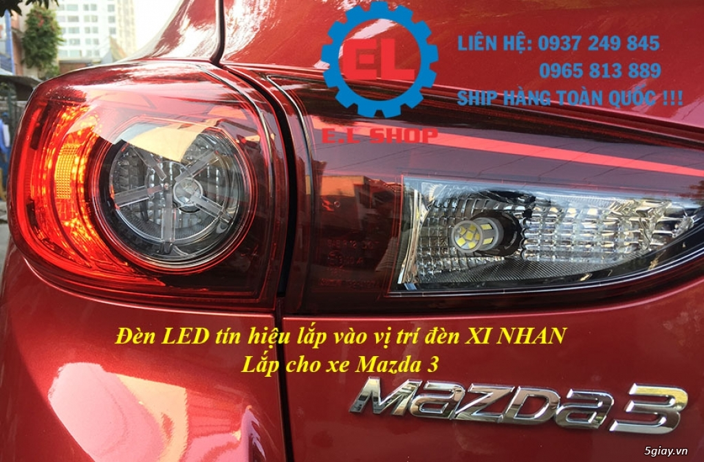 E.L SHOP - Đèn Led siêu sáng xe ô tô: XHP70, XHP50, Philips Lumiled, gương cầu xenon... - 6