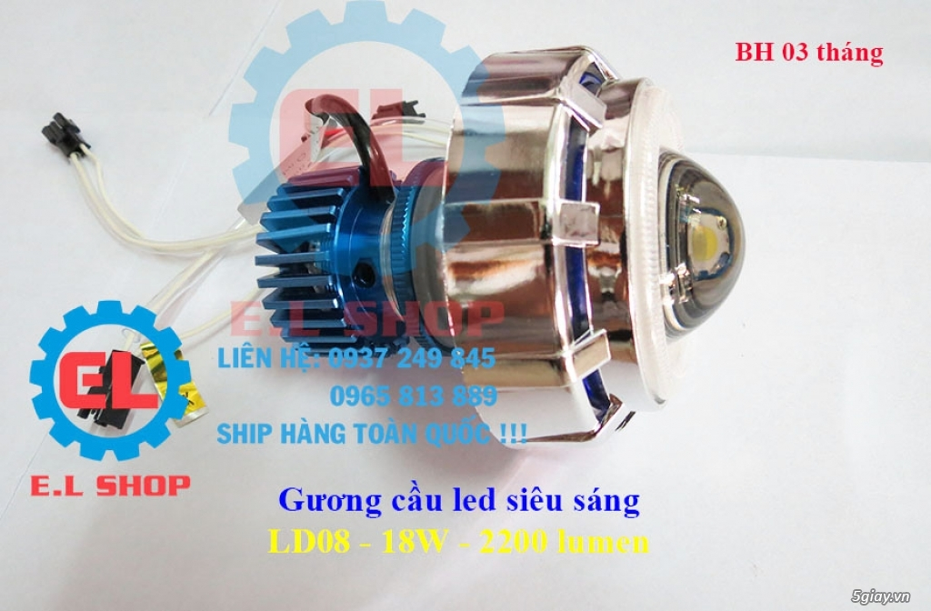 E.L SHOP Đèn led siêu sáng xe mô tô: XHP50, XHP70 i7, Cree, Philips Lumiled,Gương cầu LED xe gắn máy - 35