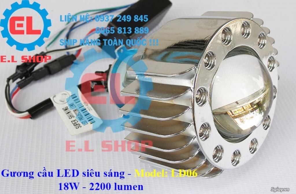 E.L SHOP Đèn led siêu sáng xe mô tô: XHP50, XHP70 i7, Cree, Philips Lumiled,Gương cầu LED xe gắn máy - 30