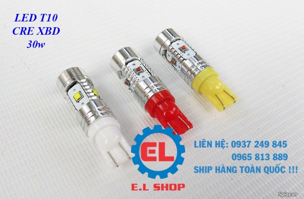 E.L SHOP - Đèn Led siêu sáng xe ô tô: XHP70, XHP50, Philips Lumiled, gương cầu xenon...
