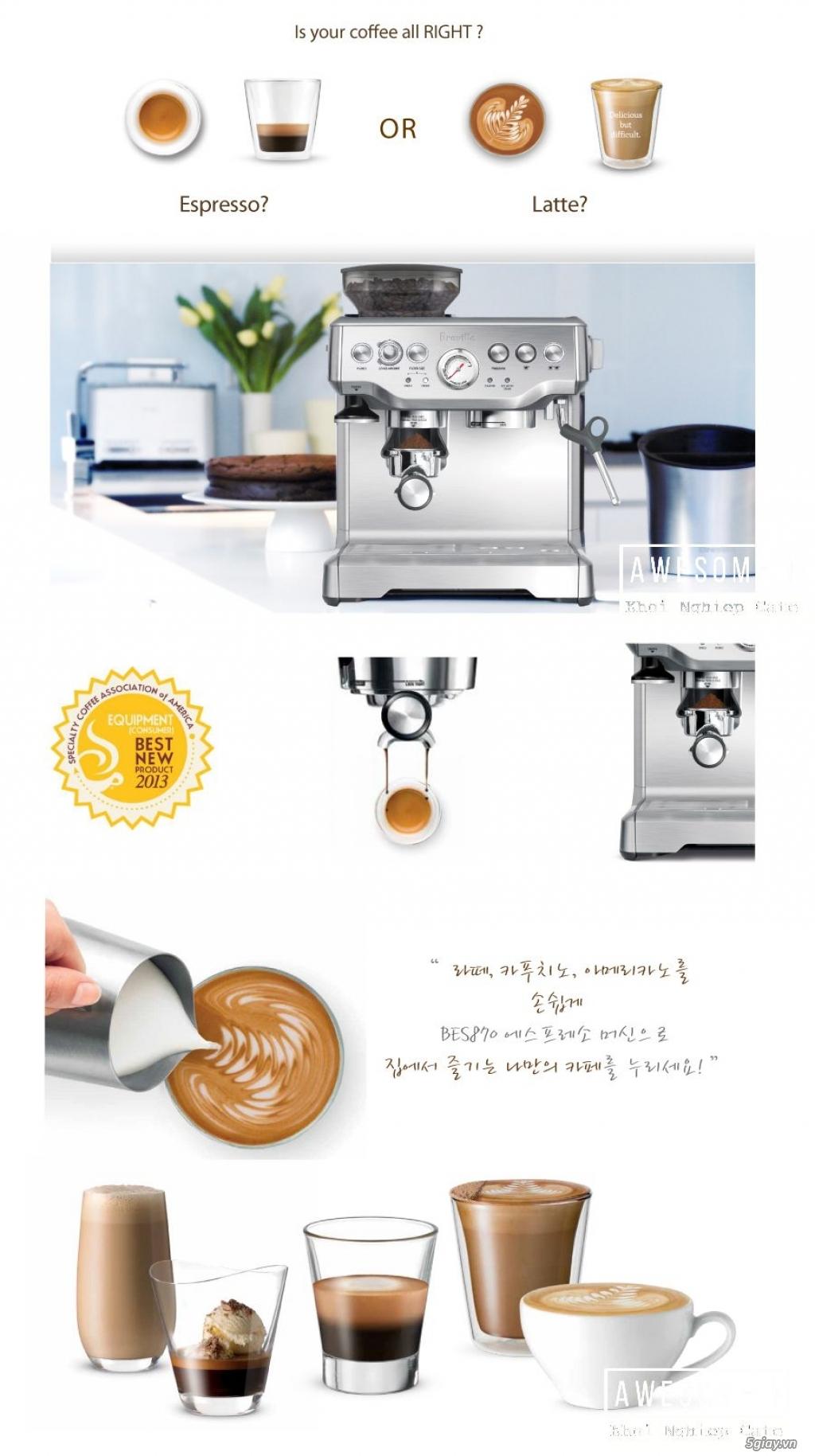 Máy pha cafe espresso Breville 870XL Australia [nhập khẩu chính hãng] - 1