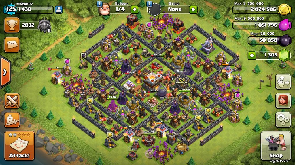 Bán acc Clash OF Clan Hall 11