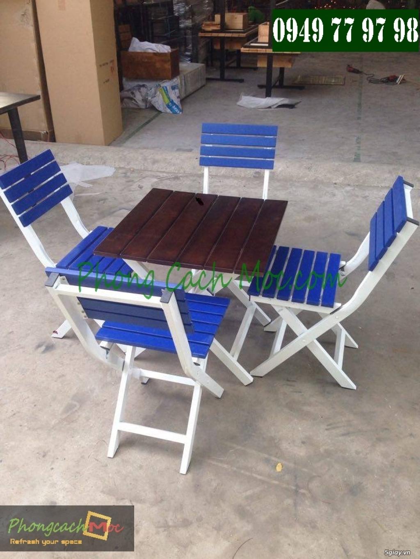 Bàn ghế cafe - Bàn ghế gỗ cafe - Ban ghế quán cafe - Thi công nội thất quán cafe - 6