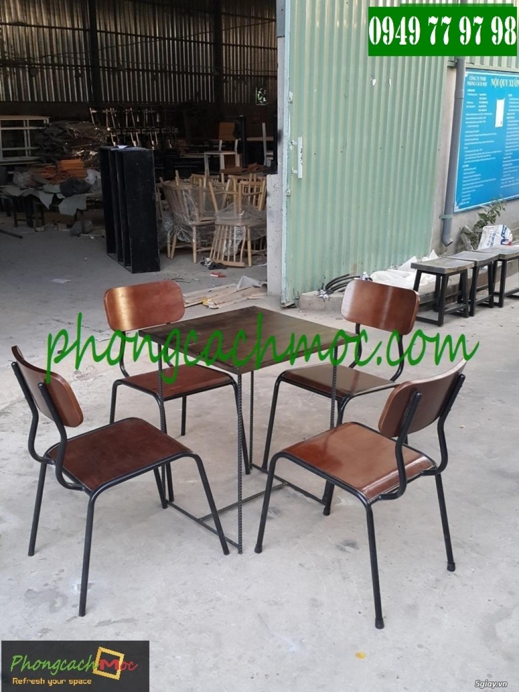 Bàn ghế cafe - Bàn ghế gỗ cafe - Ban ghế quán cafe - Thi công nội thất quán cafe - 2