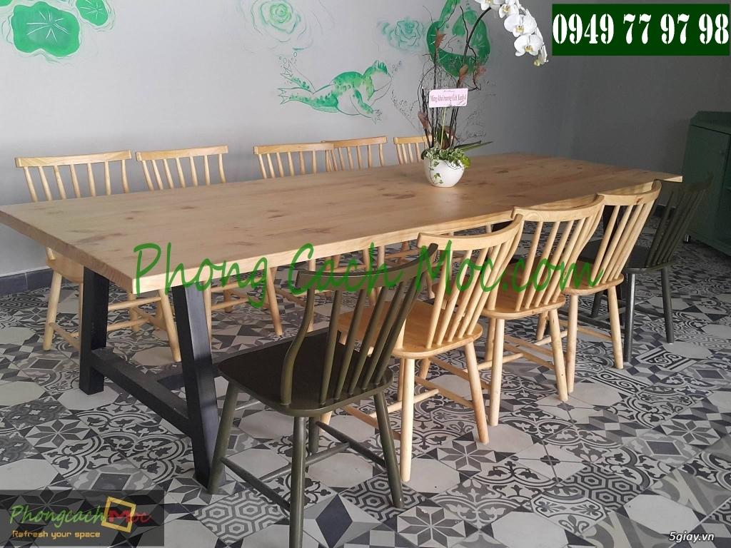 Bàn ghế cafe - Bàn ghế gỗ cafe - Ban ghế quán cafe - Thi công nội thất quán cafe