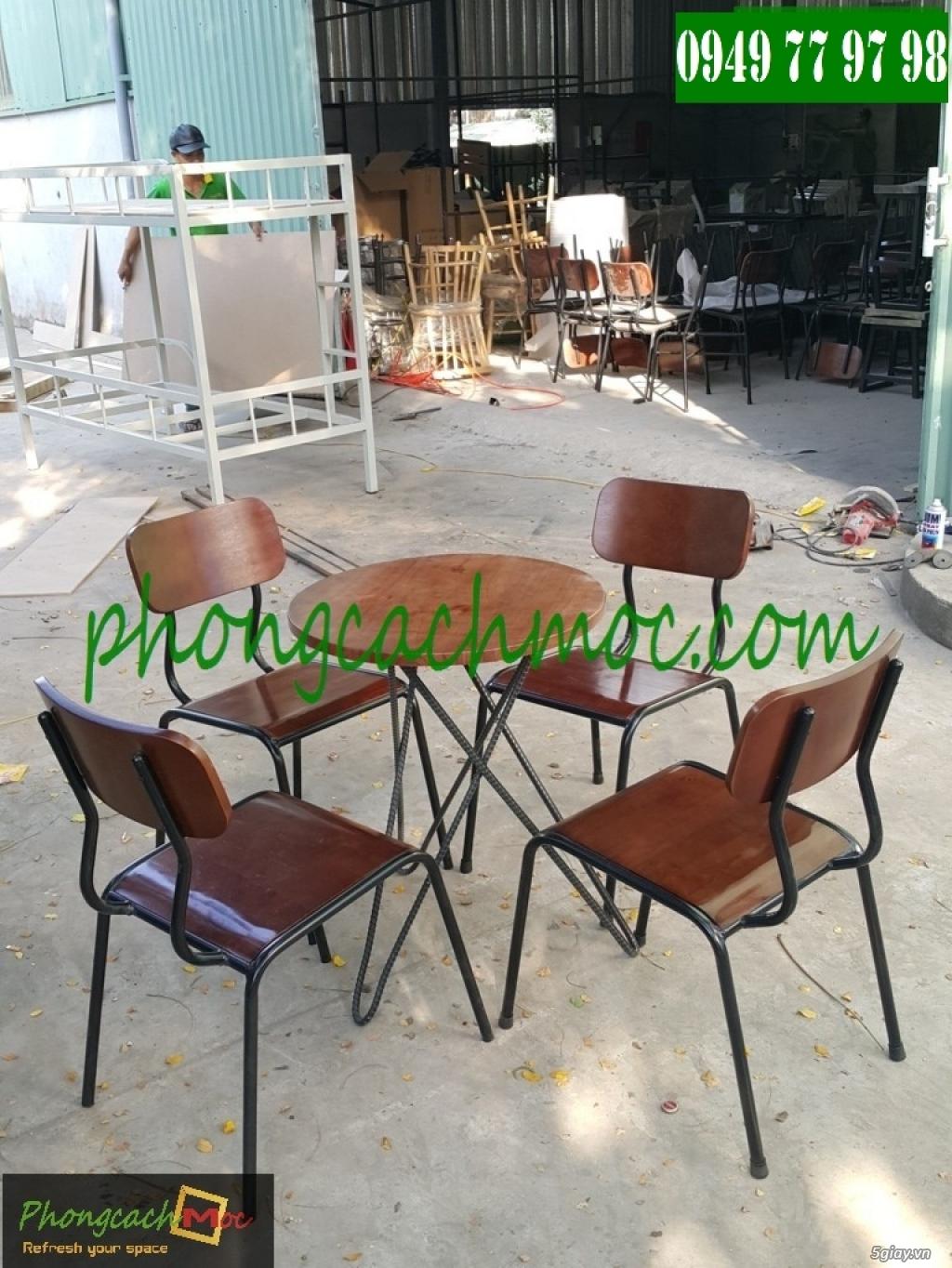 Bàn ghế cafe - Bàn ghế gỗ cafe - Ban ghế quán cafe - Thi công nội thất quán cafe - 3