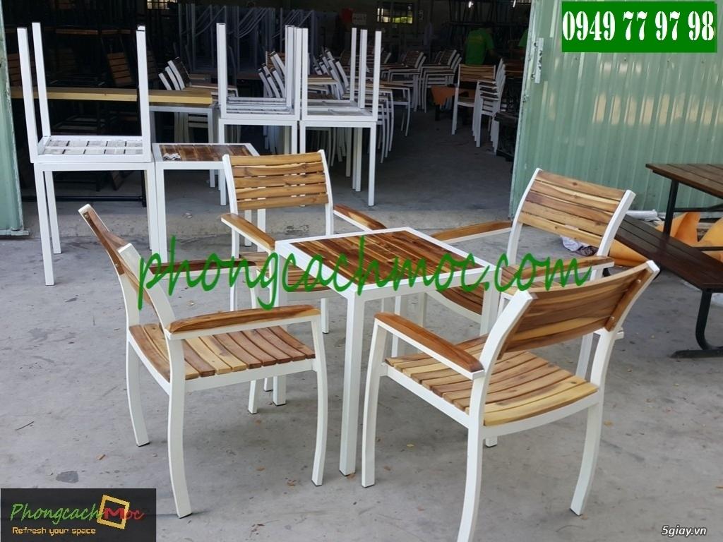 Bàn ghế cafe - Bàn ghế gỗ cafe - Ban ghế quán cafe - Thi công nội thất quán cafe - 1