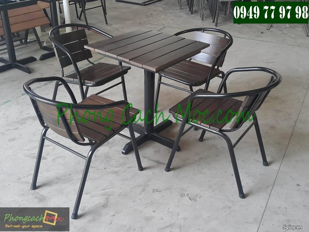 Bàn ghế cafe - Bàn ghế gỗ cafe - Ban ghế quán cafe - Thi công nội thất quán cafe - 7