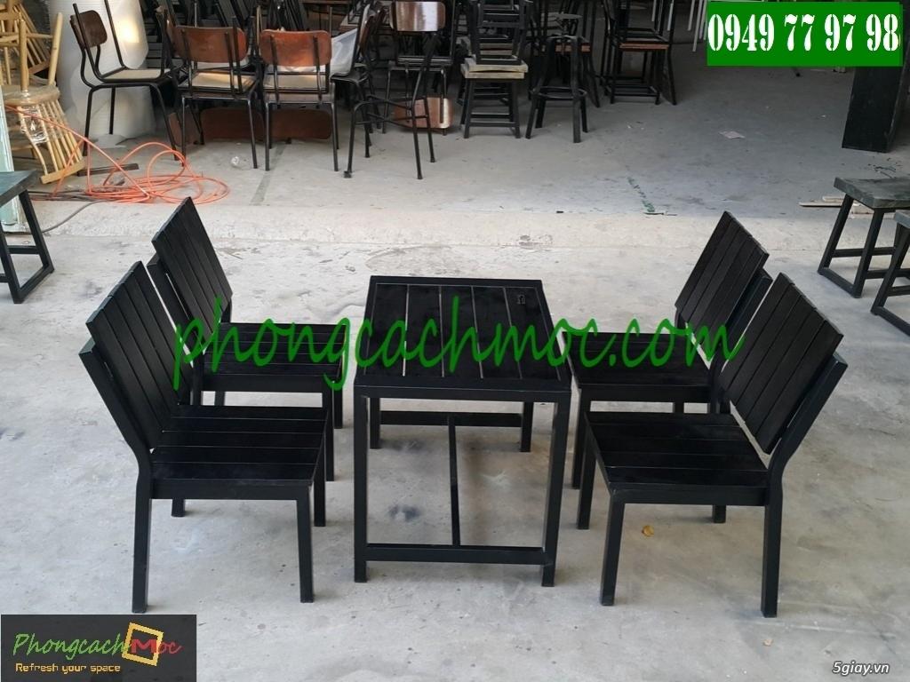 Bàn ghế cafe - Bàn ghế gỗ cafe - Ban ghế quán cafe - Thi công nội thất quán cafe - 4