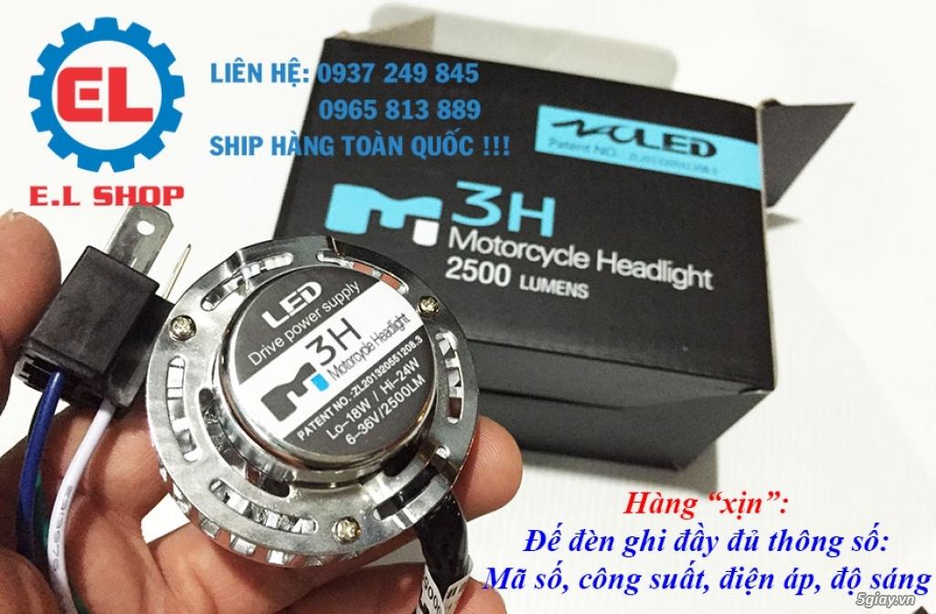 E.L SHOP Đèn led siêu sáng xe mô tô: XHP50, XHP70 i7, Cree, Philips Lumiled,Gương cầu LED xe gắn máy - 2