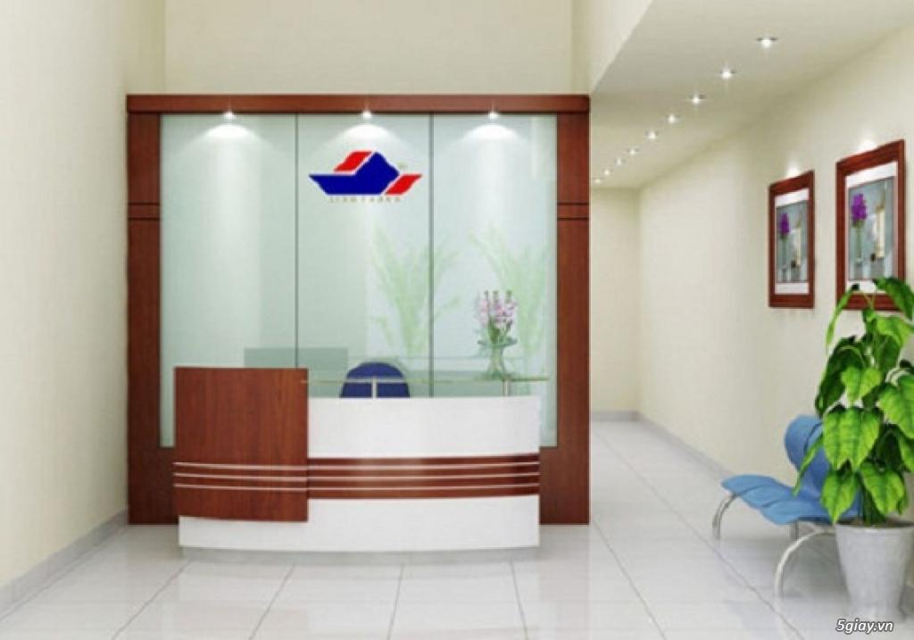 Thiết kế thi công quầy lễ tân văn phòng Hải Phòng