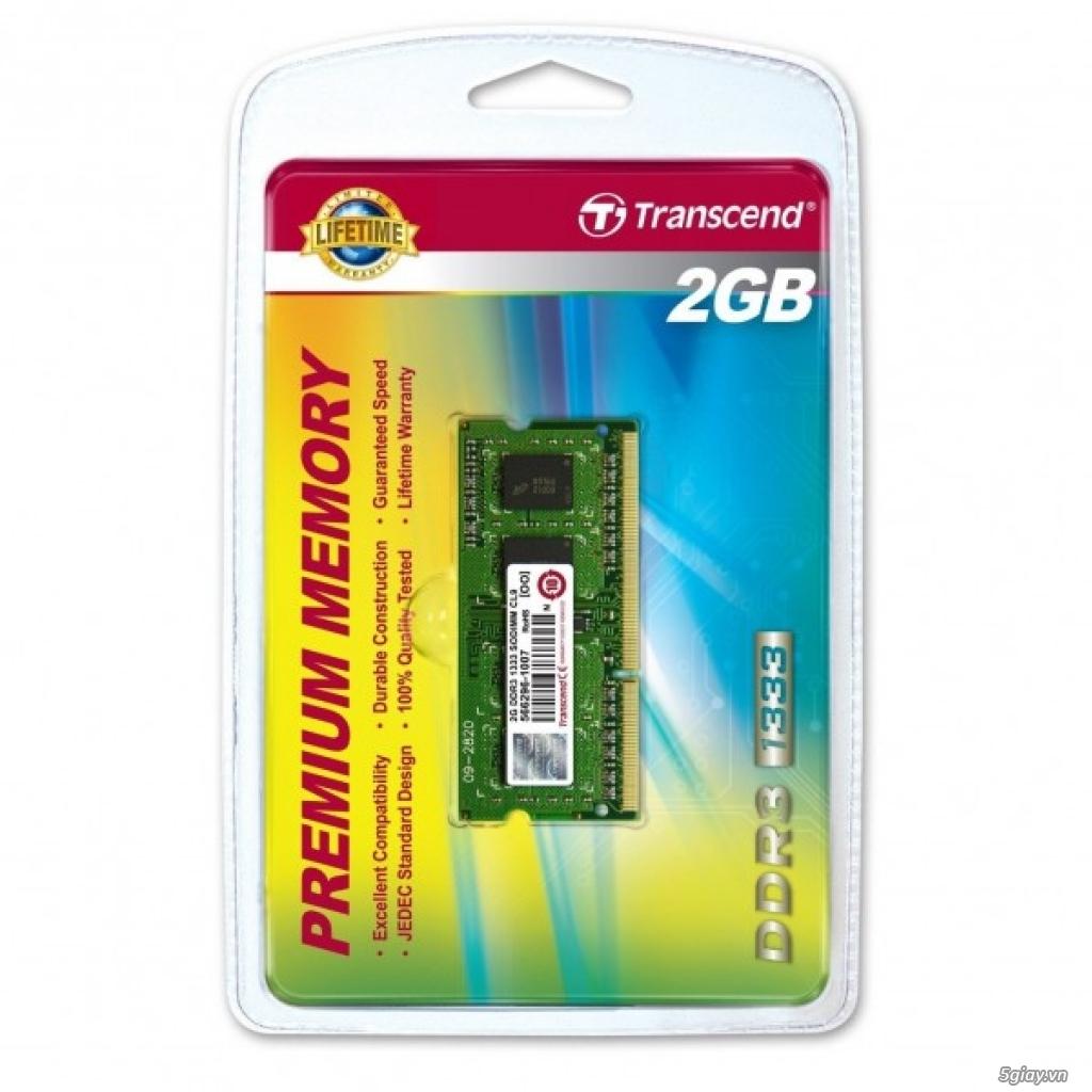 DRAM LAPTOP DDRIII 2Gb =200k,TRANSCEND lifetime warranty