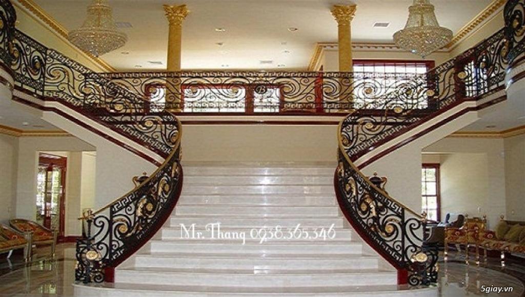Cầu thang sắt mỹ thuật đẹp - 4