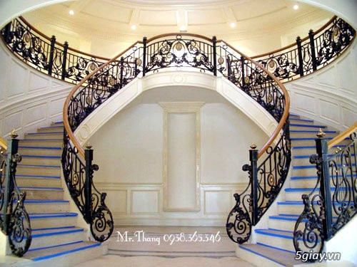 Cầu thang sắt mỹ thuật đẹp - 5