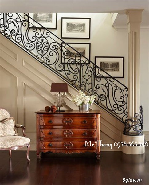 Cầu thang sắt mỹ thuật đẹp - 7