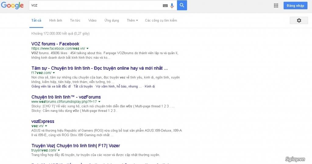 VOZ biến mất khỏi google - 1