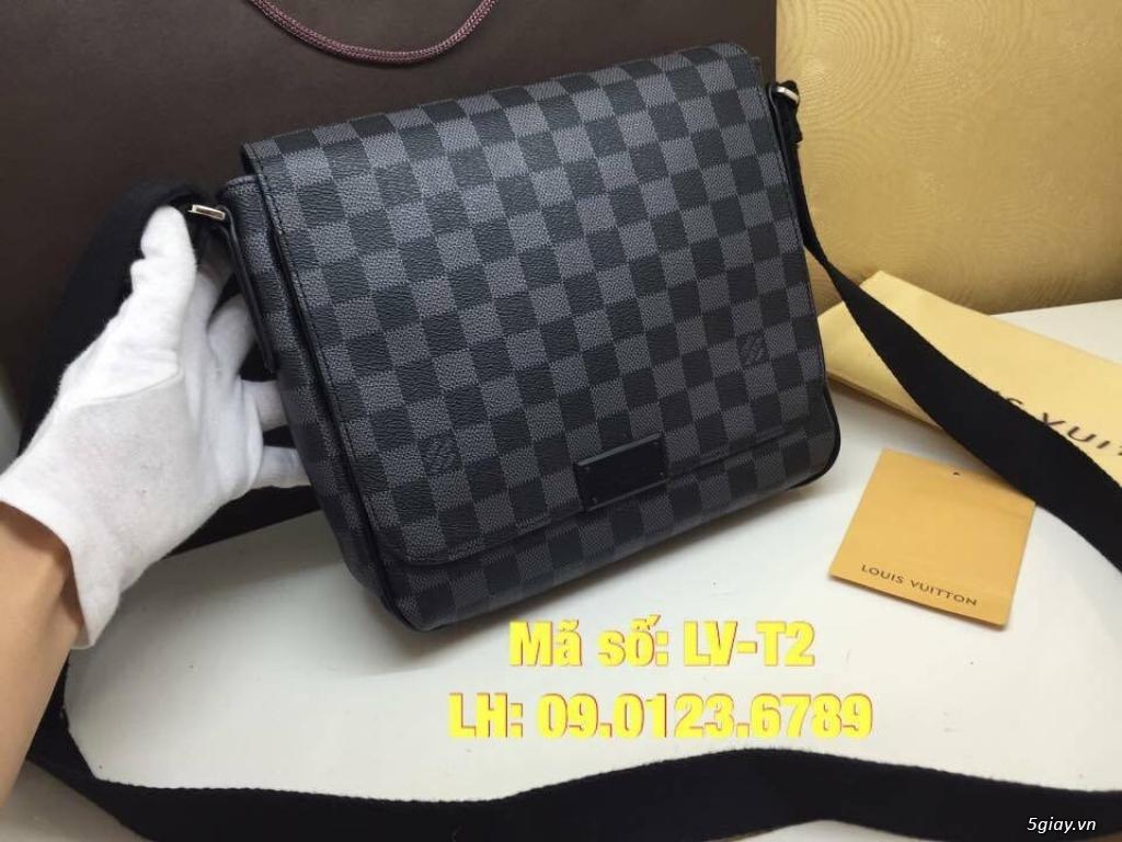 Túi LV District PM (size 25) màu caro xanh đen, hàng super đẹp. - 2