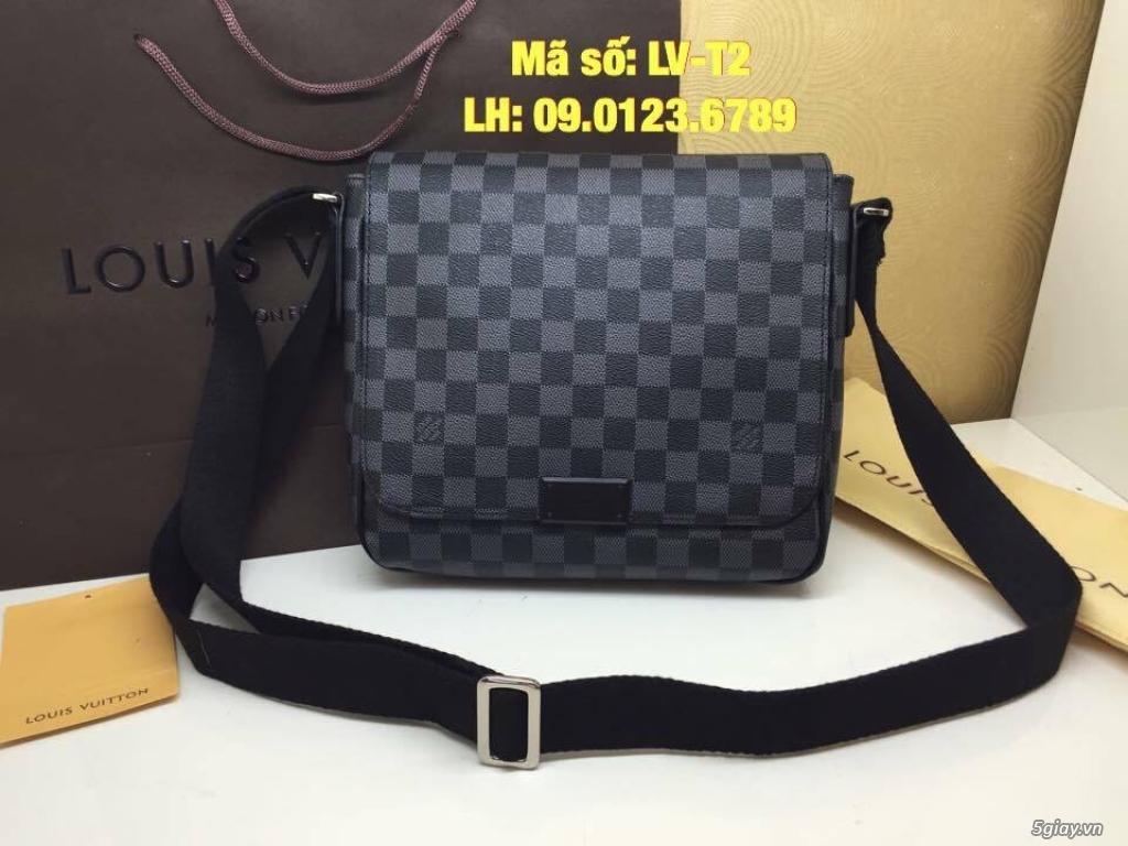 Túi LV District PM (size 25) màu caro xanh đen, hàng super đẹp.