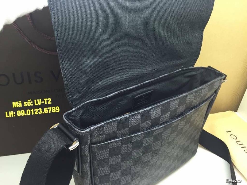 Túi LV District PM (size 25) màu caro xanh đen, hàng super đẹp. - 7