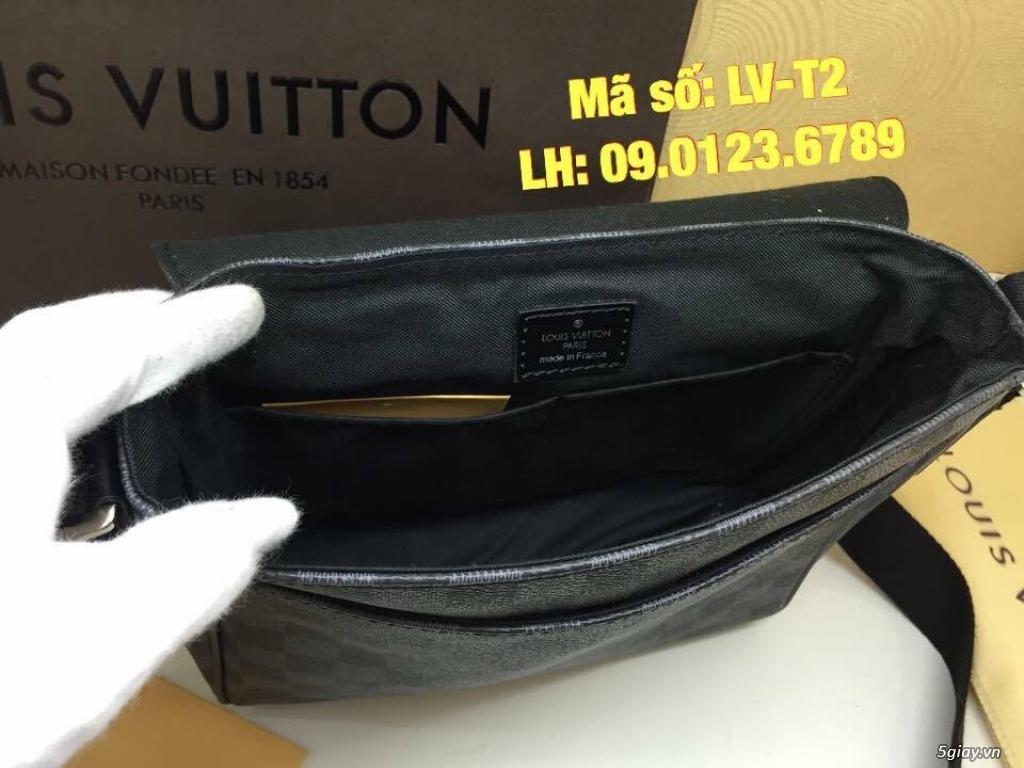 Túi LV District PM (size 25) màu caro xanh đen, hàng super đẹp. - 4
