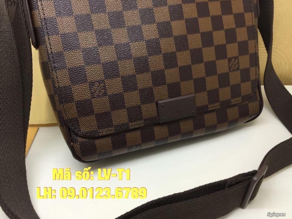 Túi LV District PM (size 25cm) màu caro nâu, hàng super đẹp. - 2