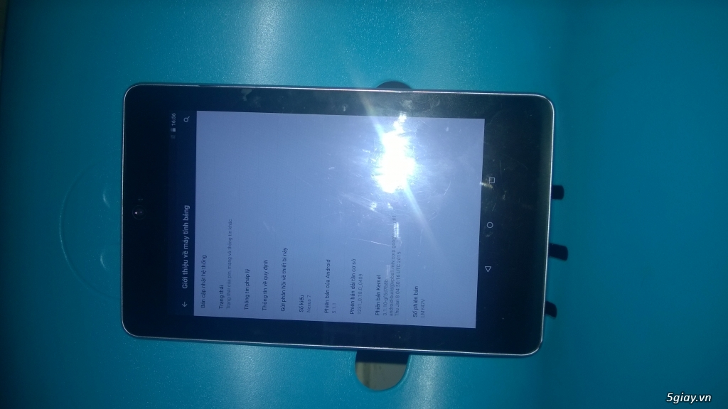 Tablet Nexus 7 Gen 1 mới 95%, 32GB, 3G, Wifi - 1,5 trieu - 2