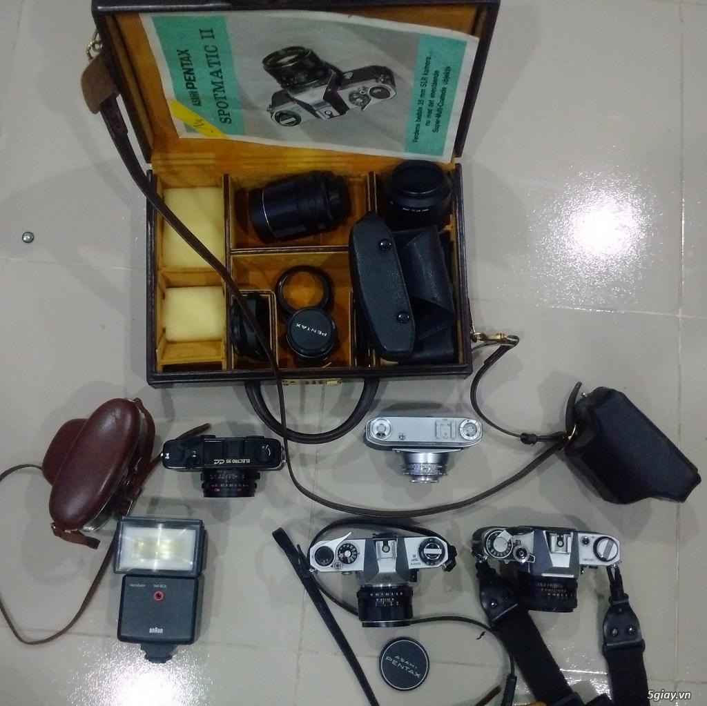 Bán một vài máy ảnh Film sưu tầm :Pentax spotmatic ,Yashica Electro 35cc,Retinette 1A Kodak
