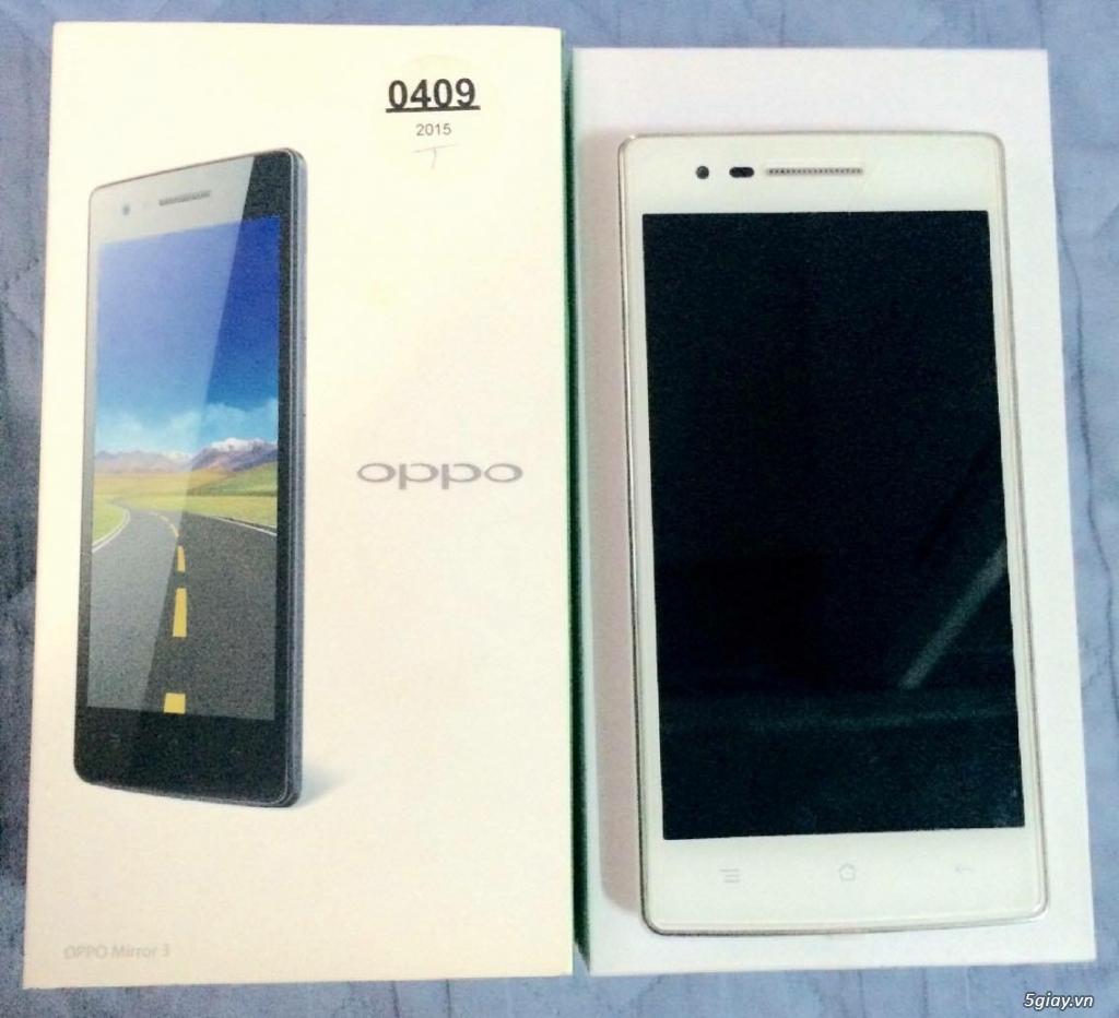 Oppo Mirror 3 trắng likenew 99% fullbox giá tốt. - 1