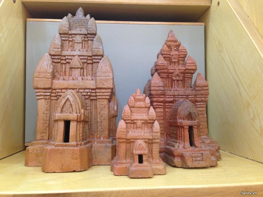 Mô hình tháp chăm gốm Bàu Trúc Ninh Thuận