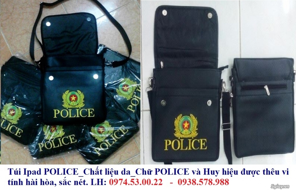 Dây nịt công an & Quân đội, túi ipad police, áo khoác police, áo khoác công an nhân dân, giầy công a - 2
