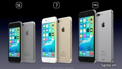 iPhone 7 lộ giá bán, phiên bản thấp nhất dung lượng 32GB