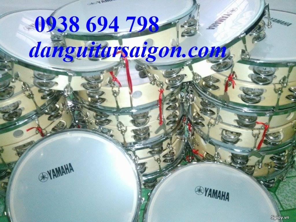 Trống gõ bo, trống lục lạc cầm tay, trống tambourine, trống lắc tay chơi nhạc chế - 20