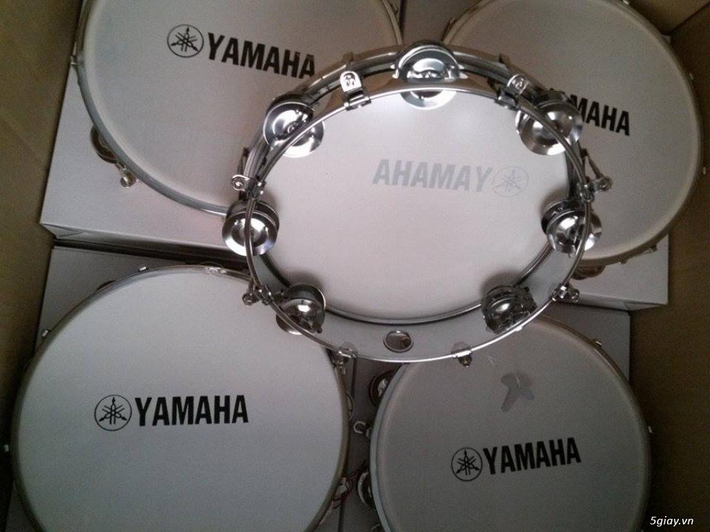 Trống gõ bo, trống lục lạc cầm tay, trống tambourine, trống lắc tay chơi nhạc chế - 16