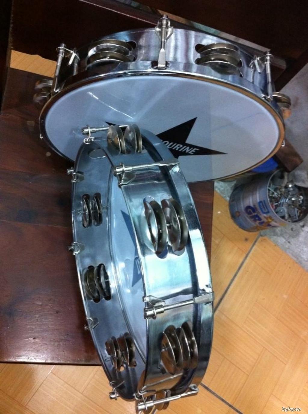 Trống gõ bo, trống lục lạc cầm tay, trống tambourine, trống lắc tay chơi nhạc chế - 29