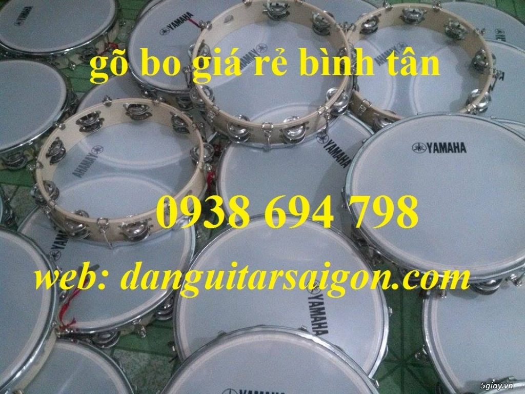 Trống gõ bo, trống lục lạc cầm tay, trống tambourine, trống lắc tay chơi nhạc chế - 19