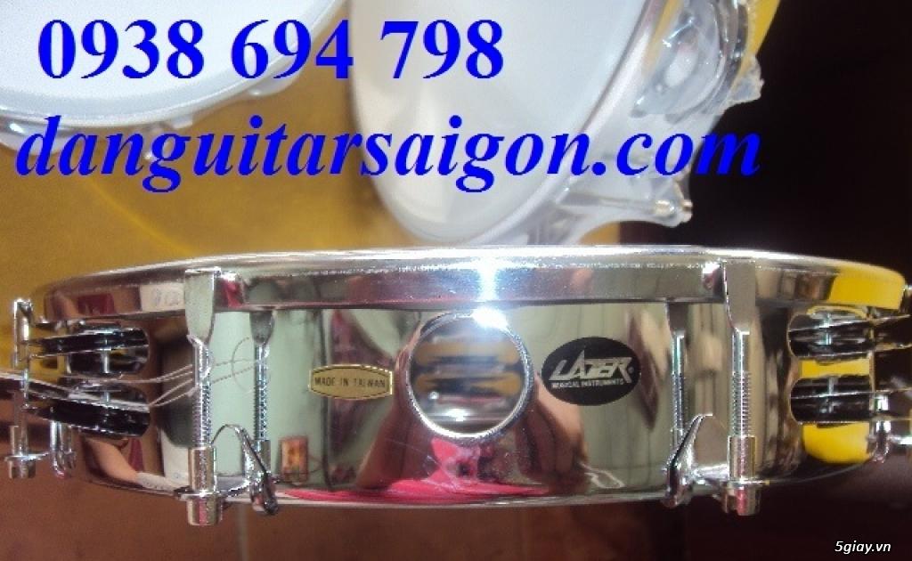 Trống gõ bo, trống lục lạc cầm tay, trống tambourine, trống lắc tay chơi nhạc chế - 17