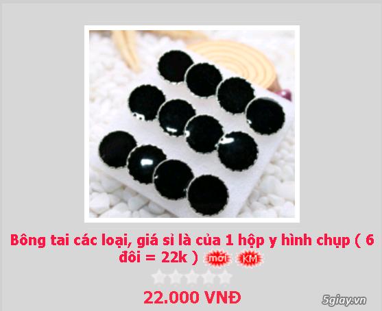 Zalo 0981662025. Bông tai giá sỉ chỉ từ 3k,4k/đôi tùy loại.Website bansisaigon.com - 9