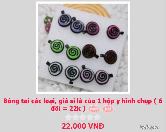 Zalo 0981662025. Bông tai giá sỉ chỉ từ 3k,4k/đôi tùy loại.Website bansisaigon.com - 1