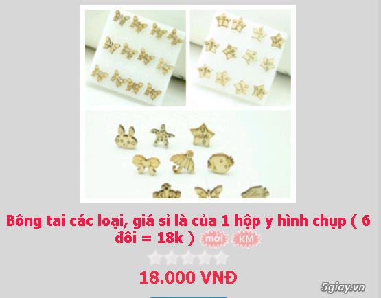 Zalo 0981662025. Bông tai giá sỉ chỉ từ 3k,4k/đôi tùy loại.Website bansisaigon.com - 24