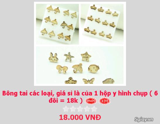 Zalo 0981662025. Bông tai giá sỉ chỉ từ 3k,4k/đôi tùy loại.Website bansisaigon.com - 22