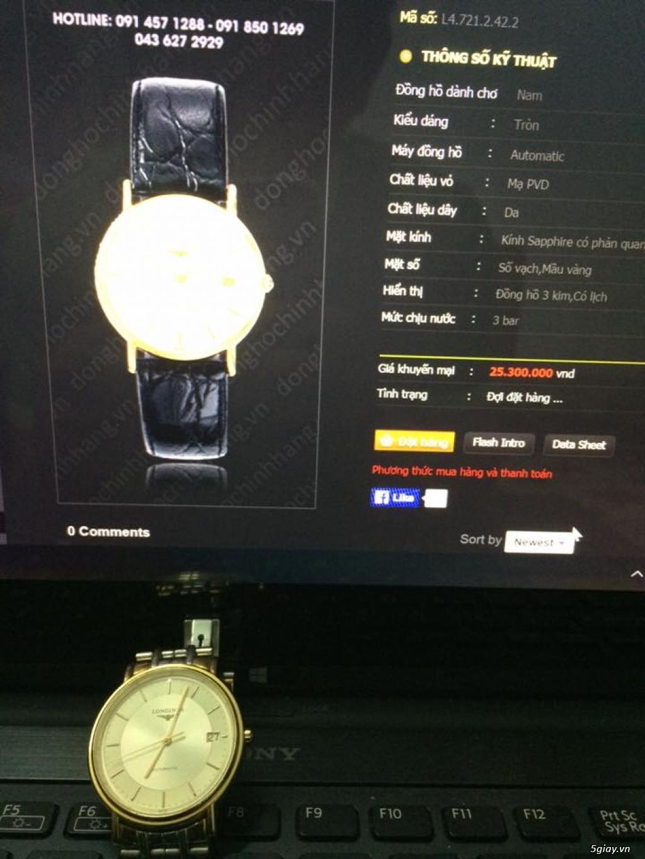 Đồng hồ Longines chính hãng Gold size 17 tay nhỏ, vừa. - 8