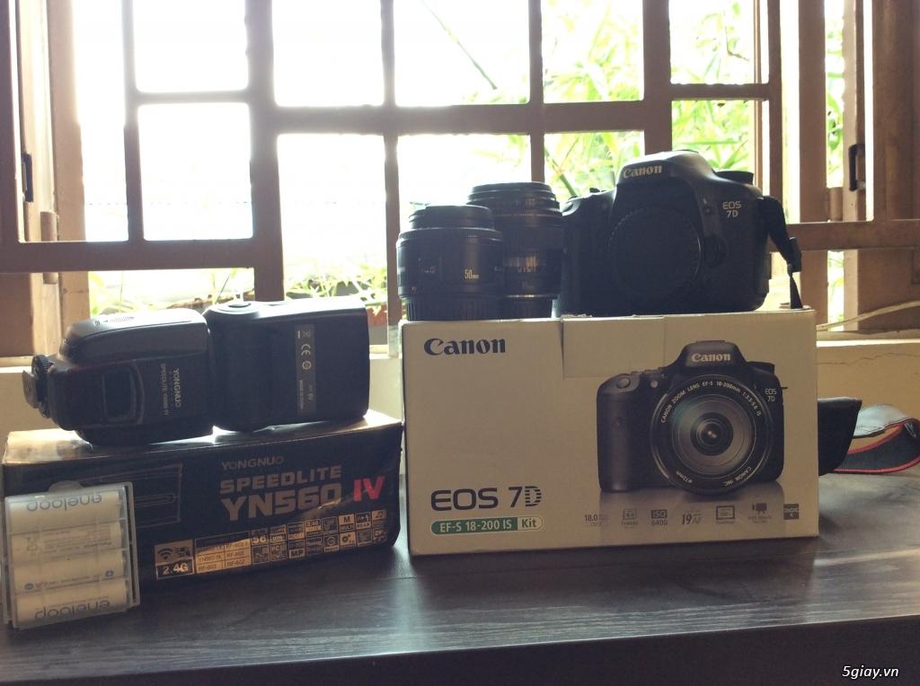 Bán máy DSLR Canon 7D + Lens + Đồ chơi máy ảnh