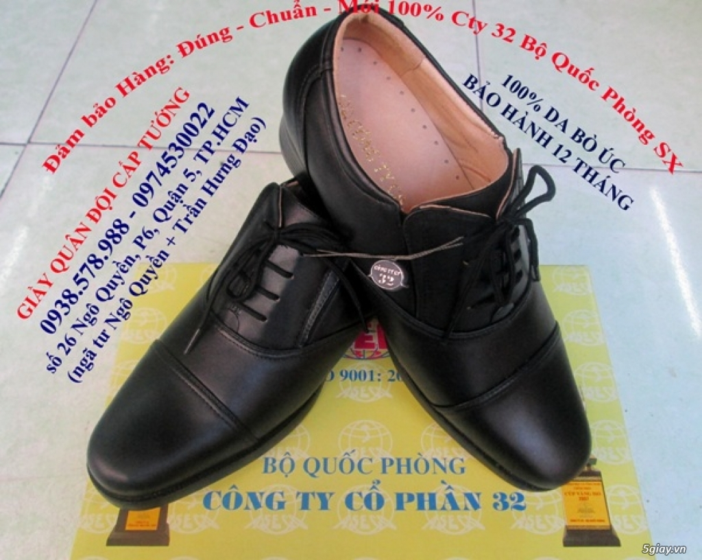 giầy da cao câp TLT, nón bảo hiểm công an, giầy công an (giá hấp dẫn nhất) - 8