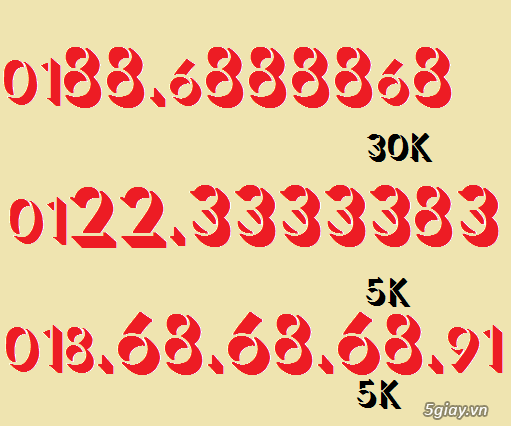 sảnh 4567 5678 giá chỉ có 250k bao rẻ nhất 5giay.vn