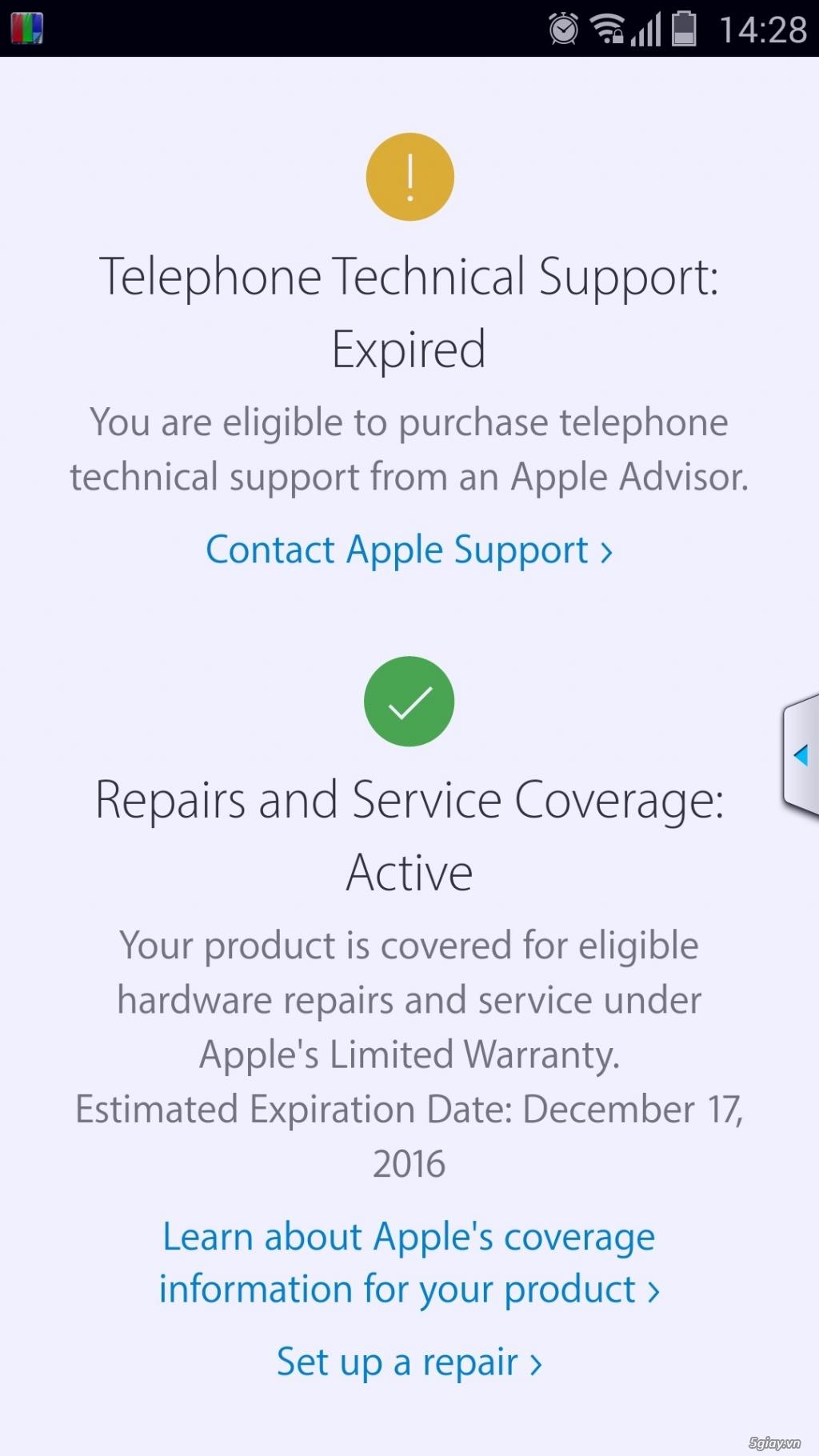 iphone 6s 16gb vàng gold còn bảo hành 5 tháng. - 3